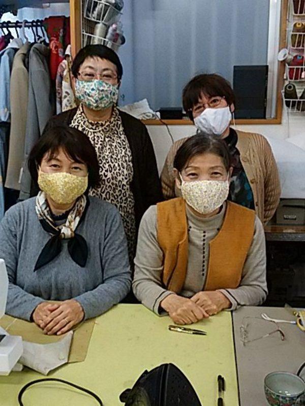 手作りマスク の講習と販売